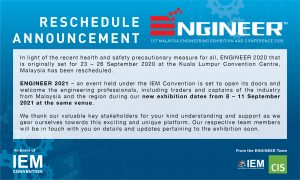 ENGINEER 2020 Reschedule Announcement