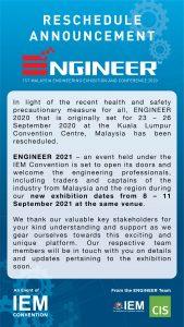 ENGINEER 2020 Reschedule Announcement
